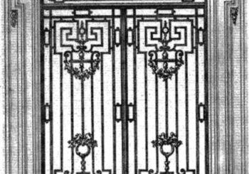 Ferforje Bina Giriş Kapısı Modelleri
